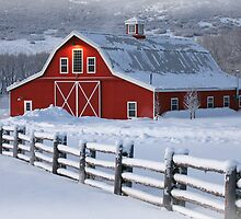 Winter Barn by David Kocherhans