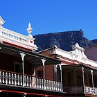 Table Mountain Peeks Over the Long Street - Cape Town, South Africa by digsy