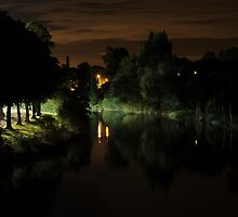 River Severn by Night by Sheila Laurens