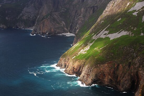 Slieve League II (detail) by Karin  Funke