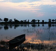 Night Gently Falls - Okavango Delta, Botswana by digsy