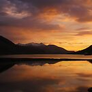 Sunset reflections, Glen Etive, Scotland by KerryElaine