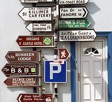 Sign Post - Irish Style  by Karin  Funke