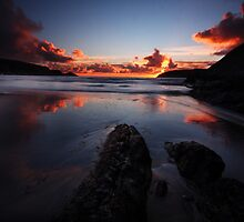flaming Sky- west cork ireland by Pascal Lee