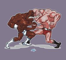 wrestlers by calamarkes