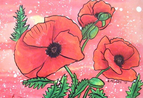 Poppies XVII by Alexandra Felgate