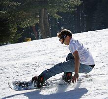Eric Sliding Down the Hill by Corri Gryting Gutzman