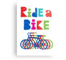 Ride a bike - sketchy - white Metal Print