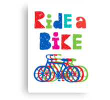 Ride a bike - sketchy - white Canvas Print