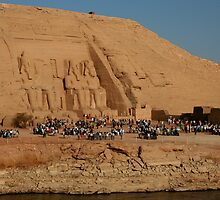 Great Temple of Ramses II at Abu Simbel by Laurel Talabere