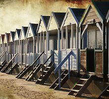 Beach Huts at Southwold in Suffolk, UK by Christopher Cullen