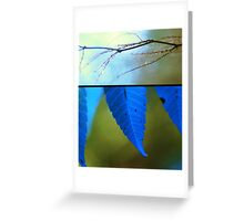 Memories in Blue Greeting Card