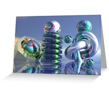 Glass sculptures Greeting Card