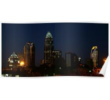 Charlotte Skyline At Night  Poster