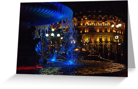 Paris - Blue fountain by Jean-Luc Rollier