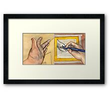 The Left and Right Hands Diptych Framed Print