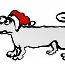 Christmas Dachshund by Mary Taylor
