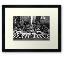 NYC Street Crossing Framed Print