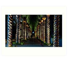 Palm Archway Art Print