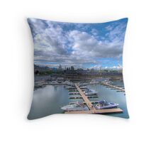 Summer in Old Montreal Throw Pillow