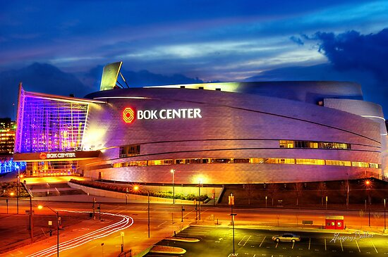 Neon Night - BOK Center by Gregory Ballos | gregoryballosphoto.com