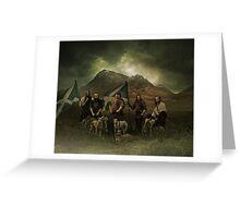 a scott black improvement!..a big scottish hunt! Greeting Card