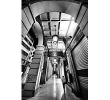 Night walking on the city street Photographic Print