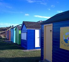 Beach huts - eat my dookers by mark smith