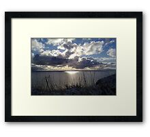 Snowstorm out to sea Framed Print