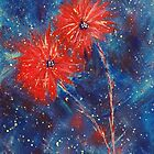 Red Asters... by Robin Monroe