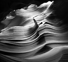 Sandstone Wave ~ Black & White by Lucinda Walter