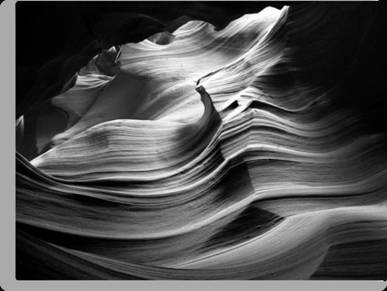 Sandstone Wave ~ Black & White by Lucinda Walter