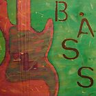 Bass Guitar by Sylvia Petra Broubalow