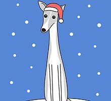 Grey and White Santa Greyhound  by zoel