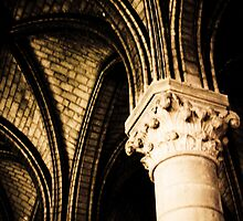 Pillars from Notre Dame in Paris, France by kbudz