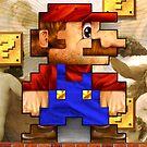 Super Mario Realistic Pixelated by jimiyo
