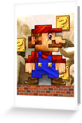 Super Mario Realistic Pixelated by jimiyo