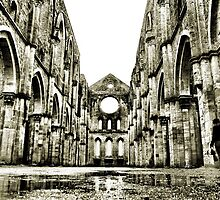 Cathedral San Galgano in a rainy day by Francesco Malpensi