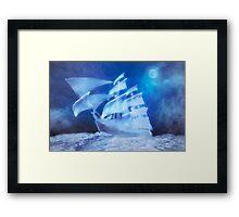 The Flying Dutchman . . . a ghost ship Framed Print