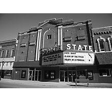 Alpena, Michigan - State Theater Photographic Print