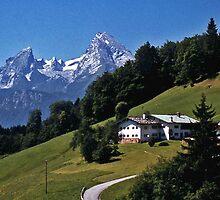 Hillside Farm near Berchtesgaden, Germany by David J Dionne