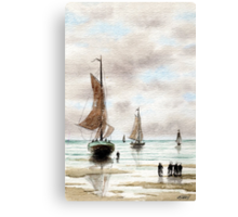 VLAARDINGEN HOLLAND ABOUT 1875 - AQUAREL Canvas Print