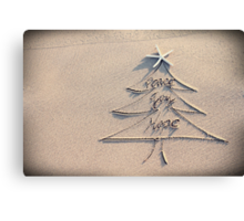 Wishes for a peaceful Christmas Canvas Print