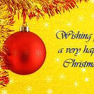 Wishing you a very happy Christmas by Silvia Ganora