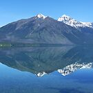 Reflection in Lake McDonald by Lucinda Walter