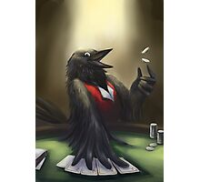 Crow player Photographic Print