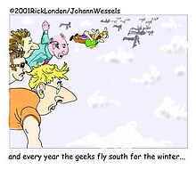 Geeks Flying South by Londons Times Cartoons by Rick  London