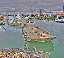 Oyster Harbour in La Tremblade, France by 7horses