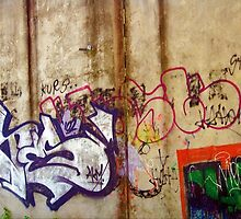 graffiti on the walls. by trinitywilson