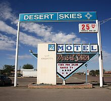 Route 66 - Desert Skies Motel by Frank Romeo